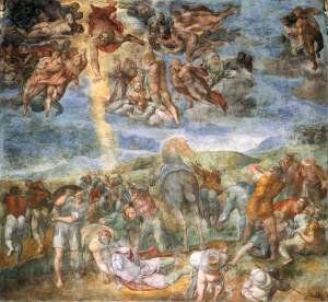 1543-1545-Michelangelo-works-on-the-CONVERSION-OF-ST-PAUL-fresco-in-the-the-Pauline-Chapel-michelangelo-vs-leonardo-da-vinci-33332445-1086-1000